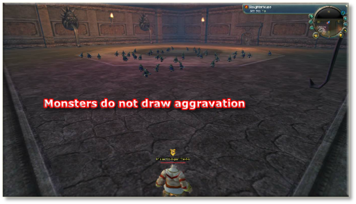 Monsters do not draw aggravation